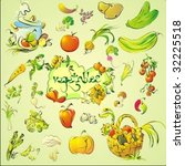 vector set of vegetables   Shutterstock .eps vector #32225518