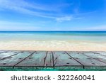 empty top of wooden table and... | Shutterstock . vector #322260041