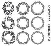 set of round frames. nine... | Shutterstock .eps vector #322263509