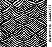 black wavy stripes on white... | Shutterstock .eps vector #322263695