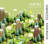 camping concept in 3d isometric ...   Shutterstock .eps vector #322264841
