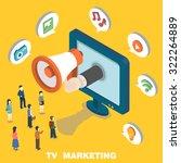 tv marketing concept in 3d... | Shutterstock .eps vector #322264889