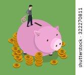 saving money concept in 3d... | Shutterstock . vector #322270811