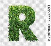 alphabet r of green grass. a... | Shutterstock .eps vector #322273055