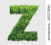 alphabet z of green grass. a... | Shutterstock .eps vector #322273061