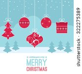 a set of christmas decorations... | Shutterstock .eps vector #322275389