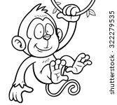 vector illustration of cartoon... | Shutterstock .eps vector #322279535