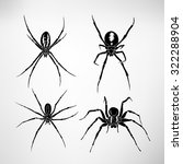spiders. vector illustration | Shutterstock .eps vector #322288904