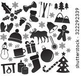 winter  christmas icon set.... | Shutterstock .eps vector #322292339
