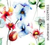 seamless pattern with original... | Shutterstock . vector #322299311