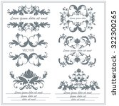 set floral ornaments in baroque ... | Shutterstock .eps vector #322300265