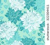seamless beautiful flowers... | Shutterstock .eps vector #322304411
