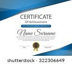 certificate template  vector | Shutterstock .eps vector #322306649