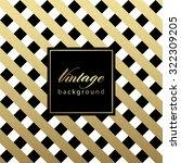 gold glittering diagonal lines... | Shutterstock .eps vector #322309205