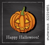 template of a halloween... | Shutterstock .eps vector #322314851