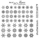vector set of 50 outlined... | Shutterstock .eps vector #322316879
