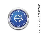 globe sign blue vector icon... | Shutterstock .eps vector #322317485