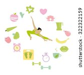 healthy lifestyle icons set... | Shutterstock .eps vector #322322159