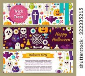 trick or treat halloween vector ... | Shutterstock .eps vector #322335215