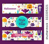 halloween trick or treat... | Shutterstock .eps vector #322335221