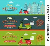 fast food and pizza delivery... | Shutterstock .eps vector #322336595