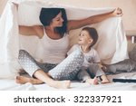 young mother with her 2 years... | Shutterstock . vector #322337921