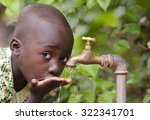 young african school boy... | Shutterstock . vector #322341701