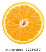 orange slice isolated on white... | Shutterstock . vector #32234350