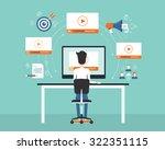 business on line video... | Shutterstock .eps vector #322351115