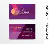 purple geometrical shape... | Shutterstock .eps vector #322352351