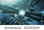 flying into an impressive space ... | Shutterstock . vector #322353329