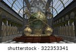time machine in steam punk... | Shutterstock . vector #322353341