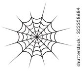 spider web icon vector | Shutterstock .eps vector #322358684