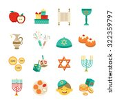 various symbols and items of... | Shutterstock .eps vector #322359797