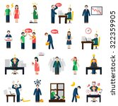 work and job loss related... | Shutterstock .eps vector #322359905