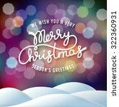 christmas illustration on... | Shutterstock .eps vector #322360931