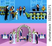 wedding party decorations and...   Shutterstock .eps vector #322361171