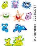 little cartoon germs | Shutterstock .eps vector #322363757