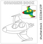 cute rocket  coloring page... | Shutterstock .eps vector #322364159