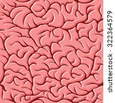 seamless pattern with brains... | Shutterstock . vector #322364579