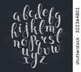 handmade letters. handwritten... | Shutterstock .eps vector #322364801