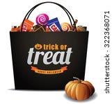 trick or treat halloween bag... | Shutterstock .eps vector #322368071