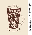 hand lettering typography... | Shutterstock .eps vector #322379597