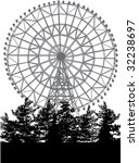 ferris wheel and trees isolated ... | Shutterstock .eps vector #32238697