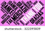 international thank you word... | Shutterstock .eps vector #322395839