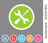repair icon flat web sign...   Shutterstock .eps vector #322397891