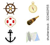 navigation raster icon set ... | Shutterstock . vector #322402955