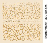 Drought Desert Texture. Brown...