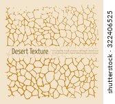 Drought Desert Texture. Brown...