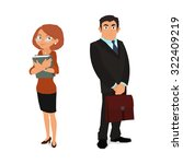 young man and woman in business ... | Shutterstock .eps vector #322409219